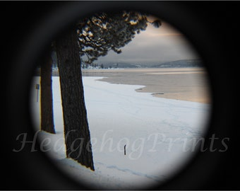 Winter by the Lake Photo Print