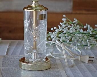 Vintage Crystal Table Lamp Pinwheel Lamp Table Lamp Crystal