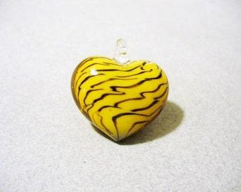 Pendant  Lampwork Glass Heart 25x22MM