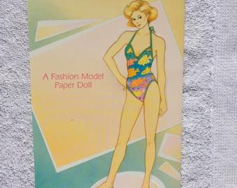 Fashion Model Paper Doll Birthday Card