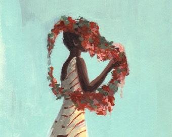 Rose Queen . giclee art print