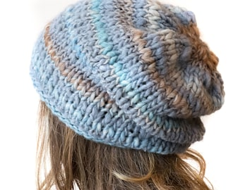 Slouch beanie hat | Winter hat for women | Hand knitted hat | Slouchy hat | Chunky slouchy beanie | womens slouchy hat | knit hat
