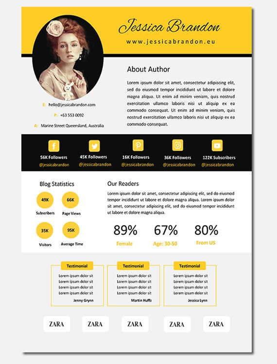 Electronic Press Kit Media Kit Template Blogger Media Kit