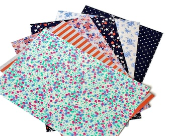 6 Self-Adhesive Sheets Flowers / Stars