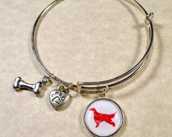 Irish Setter Bangle, Irish Setter Bracelet, Irish Setter Jewelry, Irish Setter Gifts, Irish Setter Expand It, Irish Setter Mom Gifts