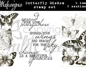 Butterfly Wisdom Digital Stamp Set