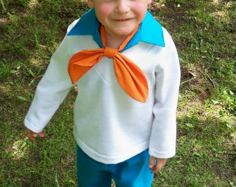 Child's Dickey and Ascot Costume Set, Fred Jones Ascot - Kids Costumes, Dress Up Play