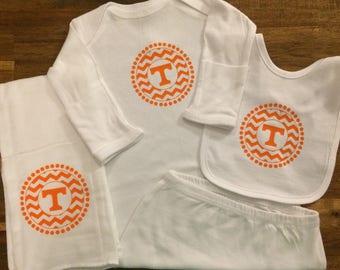 Tennessee Vols Chevron Power T Baby Gift Set