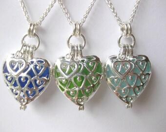 Sea glass Pendants  seaglass Wedding Jewelry Seaglass Locket Necklace Beach Glass Jewelry, Handmade Custom Jewelry