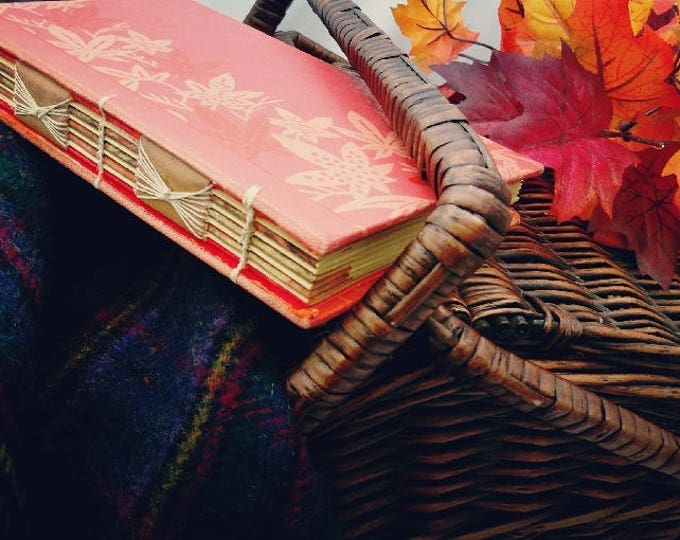 Featured listing image: Handbound, Open-Spine Journal made from Upcycled Vintage Book