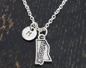 Mississippi Necklace, Mississippi Charm, Mississippi Pendant, Mississippi Jewelry, Mississippi State Necklace, Mississippi Gifts