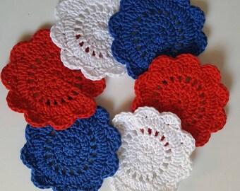coasters, crochet