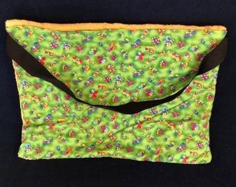 "Beach Towel Pool Bag Chair & Car Seat Cover - ""Bubagoos II"" - Lime Green Pocket - mrgld (Light YELLOW Towel) (BTB-52-0146-mrgld-LBag16)"