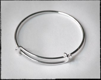 bracelets size products silver kids bangle product solid bracelet baby for adjustable bangles image