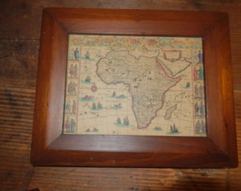 OLD MAP WALL Hanging