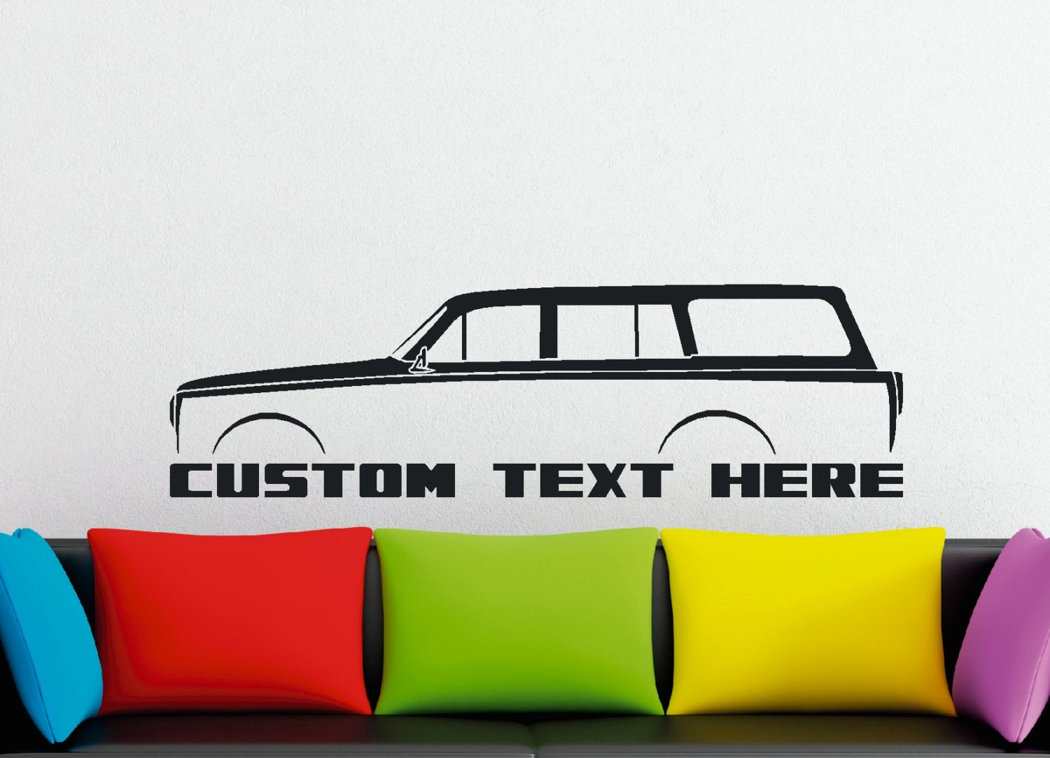 gro e custom auto silhouette wandtattoo f r volvo amazon. Black Bedroom Furniture Sets. Home Design Ideas