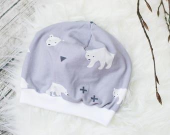 Baby Beanie Cap * Polar bears *