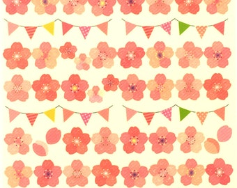 Cherry Blossom  Stickers - Japanese  Stickers - Flower Stickers - Japanese Stickers (S26)