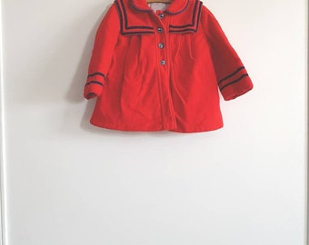 Vintage Red Flannel Toddler Coat