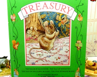 The Beatrix Potter Treasury Vintage Childrens Book Tailor of Gloucester, Tom Kitten, Flopsy Bunnies, Pigling Bland