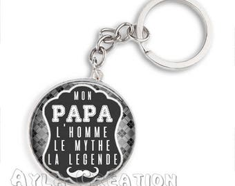 Cabochons glass 25mm #PA_CP10 dad keychain