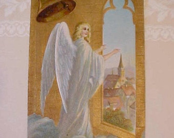 Lovely 1910 Era Postcard with Angel in Bell Tower