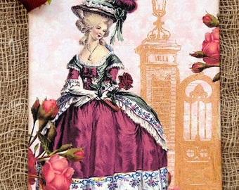 French Marie Antoinette Gift or Scrapbook Tags or Magnet #628
