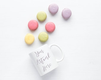 Summer Pastels macaroons styled stock photo for mug mockup