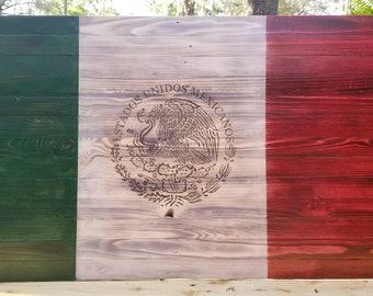 Handmade Mexican flag