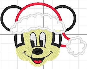 Mickey Mouse Christmas applique machine embroidery