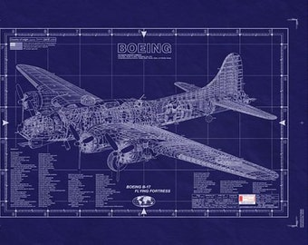 BOEING B-17 -- Blueprint Of The FLYING FORTRESS
