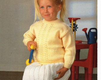 Baby / childs Sweater Skirt knitting pattern PDF girls jumper Skirt set 20-26inch DK Baby Knitting Patterns PDF Instant Download