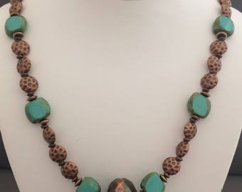 Czech Glass with Antique Copper