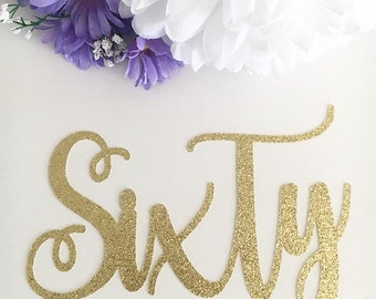 Personalised Number Cake Topper