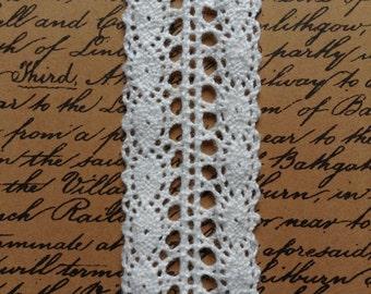 Georgian Cotton Lace - Ivory - 27mm - price per metre