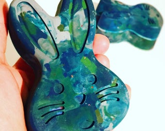 Bunny Crayons - Large Scribbler Size Bunny Crayon - Single Easter Bunny Crayon for Kids - Birthday Gift for Kids - Kids Crayons - Earth Day