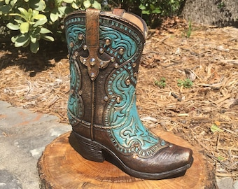 Western Boot Decor / Flower Boot Vase