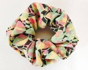 made from komon,vintage kimono,scrunchie