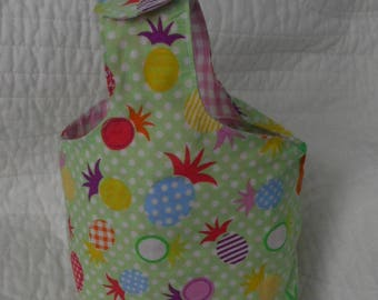 bag tied pouch / small storage / compartmentalized / girl / handmade