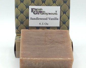 Sandalwood Vanilla Soap,Vegan Soap, Natural Soap,Shea Butter Soap,Bar Soap, Artisan Soap,Handmade Soap,non-GMO Soap,Beauty Bar,Bath Bar,