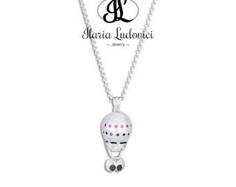 Hot air balloon necklace occhioni