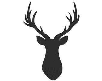 Buck deer embroidery designs, many mini sizes (.pes .hus .dst .vp3 .vip .xxx .exp .jef)  - embroidery fillstitch embroidery design