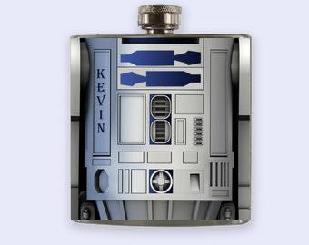 R2-D2 Flask, r2d2 Personalized Custom Flask,Star Wars