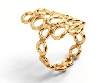 Infinity Ring In 14kt Yellow Gold
