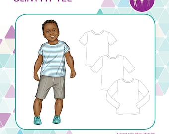 PATTERN Slim Fit Tee - PDF Sewing Pattern - Instant Download - Tadah Patterns