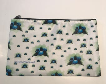 Brutish Blueberry cosmetic bag