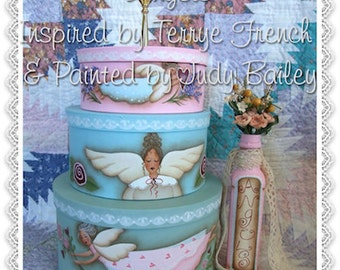 Angel Boxes, Painting With Friends by Judy Bailey