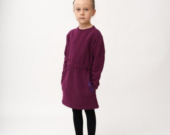 SALE -50% ! Girl dress purple