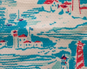 "resort white watch out  jacquard cotton fabric square 18""x18"" ~ lilly summer 2014 ~ lilly pulitzer"