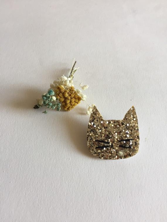 Kitten brooch - Romy - cat brooch - Handmade - La Rochelle